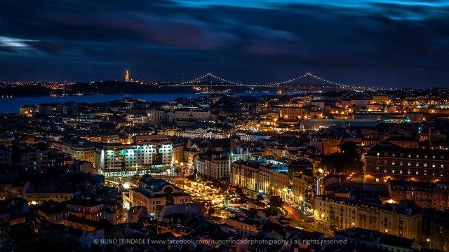 Vistas nocturnas de Lisboa