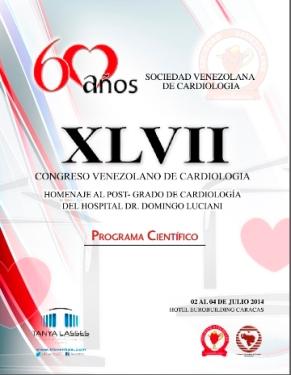 Cartel del Congreso de la Sociedad Venezolana de Cardiología.