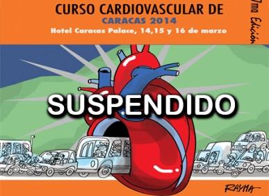 Cartel del Curso Cardiovascular suspendido en el pasado mes de marzo.