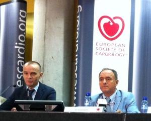 José Ramón González-Juanatey, presidente de la Sociedad Española de Cardiología, y Josep Lupón, especialista del Hospital Germans Trias i Pujol de Badalona.