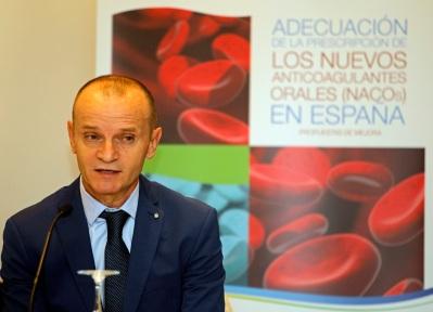 El Dr. José Ramón González-Juanatey, en la presentación del informe de Daiichi-Sankyo.
