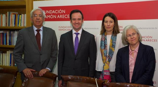 Los Dres. García Fernández, Plana, López Fernández y Zamora.
