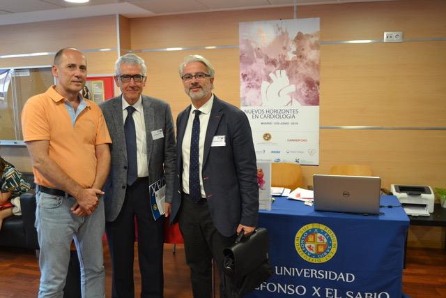 Enrique González, director médico de IdemmFarma; Luis Rodríguez Padial, codirector del CardioForo, y Alejandro Berenguel, investigador principal de @tendidos.